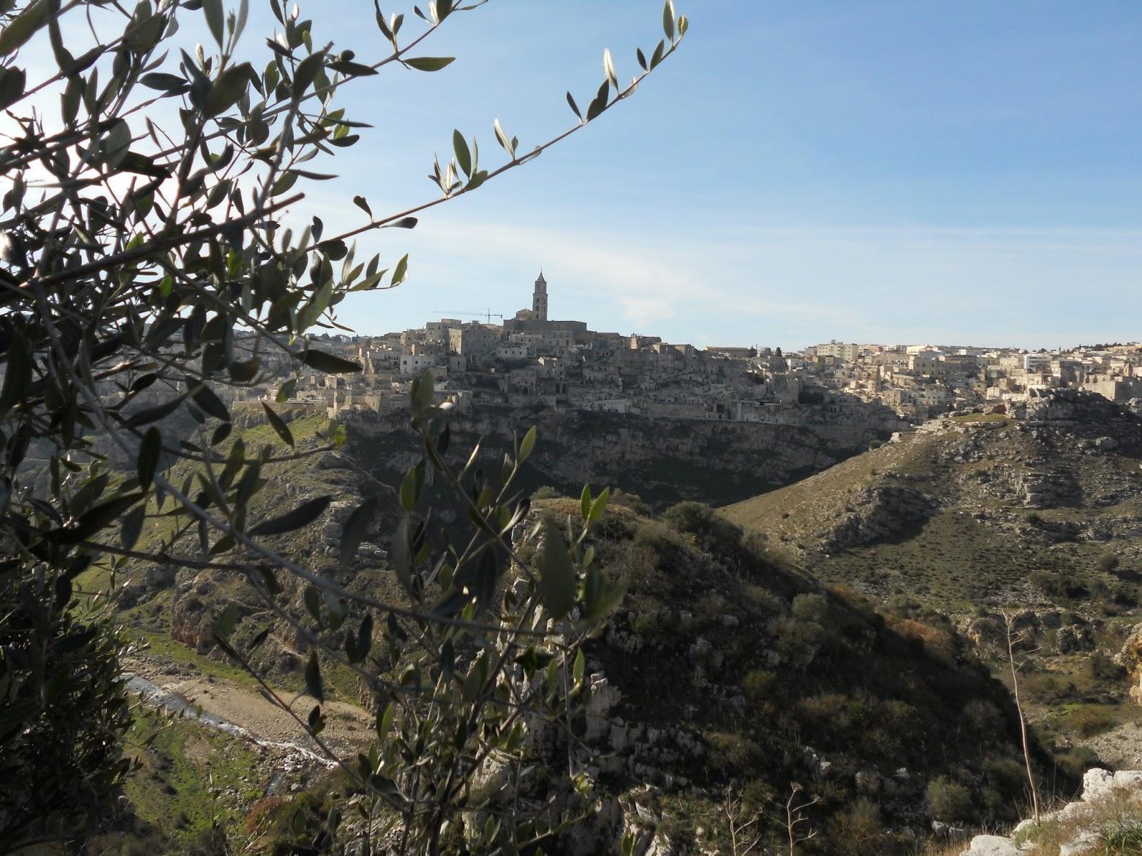 panorama di Matera da Murgecchia