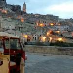 Itinerari notturni di Matera in Ape Vito Calessino