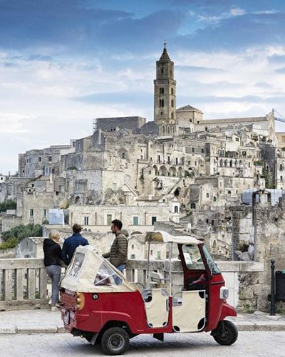 tour del centro storico di Matera in ape calessino