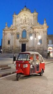 Ape Tour Matera: Ape Calessino in Piazza San Francesco D'Assisi